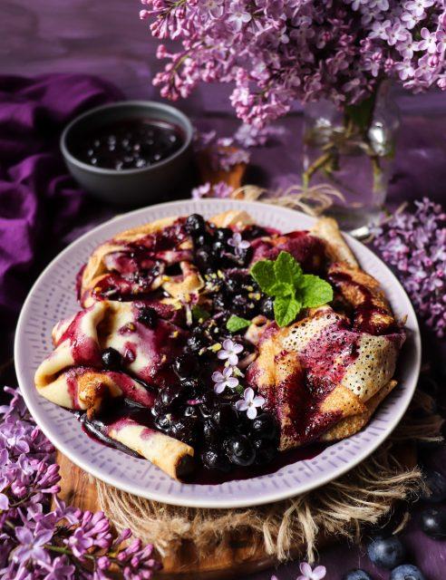 Maple Blueberry Crêpes