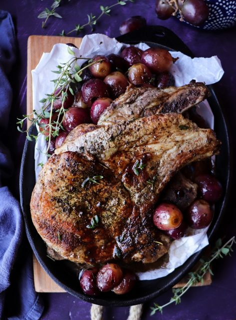 Pork Chops with Grapes