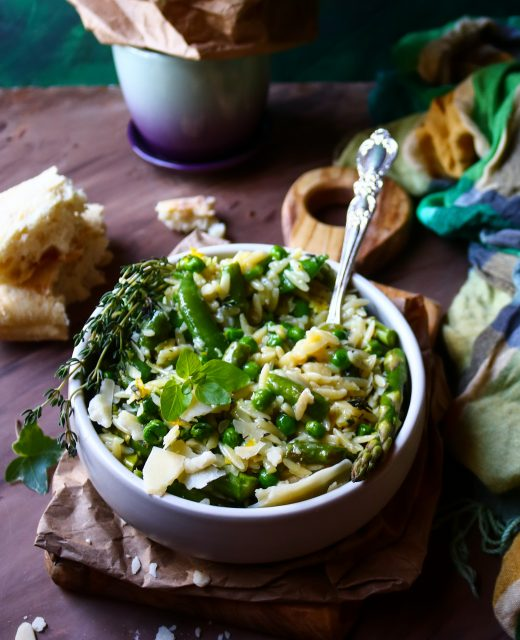 Spring Vegetable Orzo Risotto